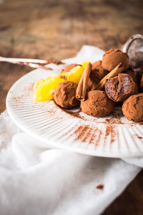Truffes au Chocolat, Orange & Cannelle