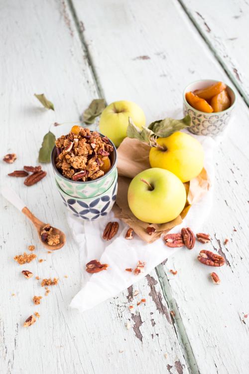 Pommes fondantes façon Crumble Sirop d'Érable & Noix de Pécan