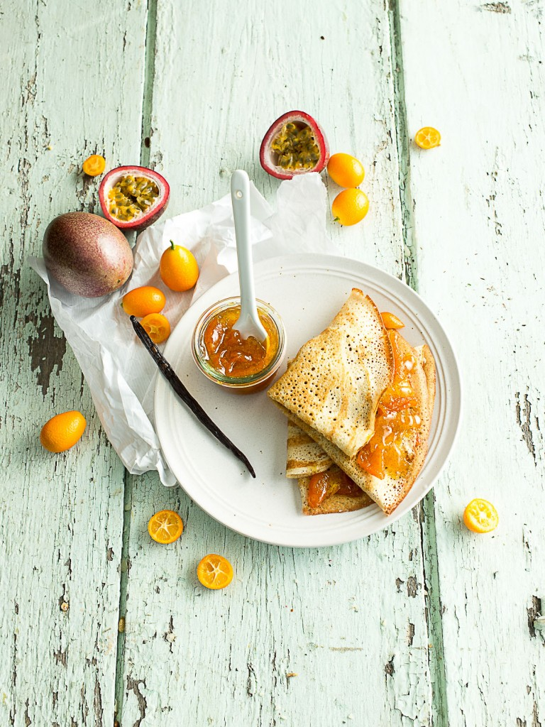 crepes marmalade de kumquat passion vanille