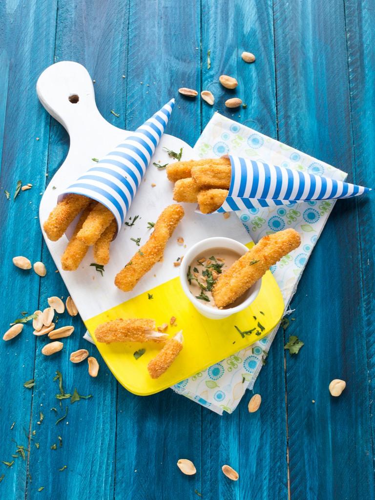 frites de poulet sauce beurre de cacahuetes