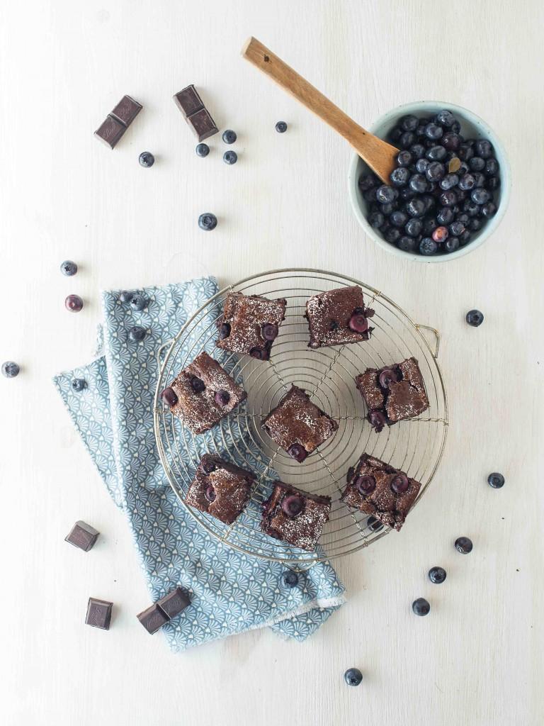 brownie myrtilles