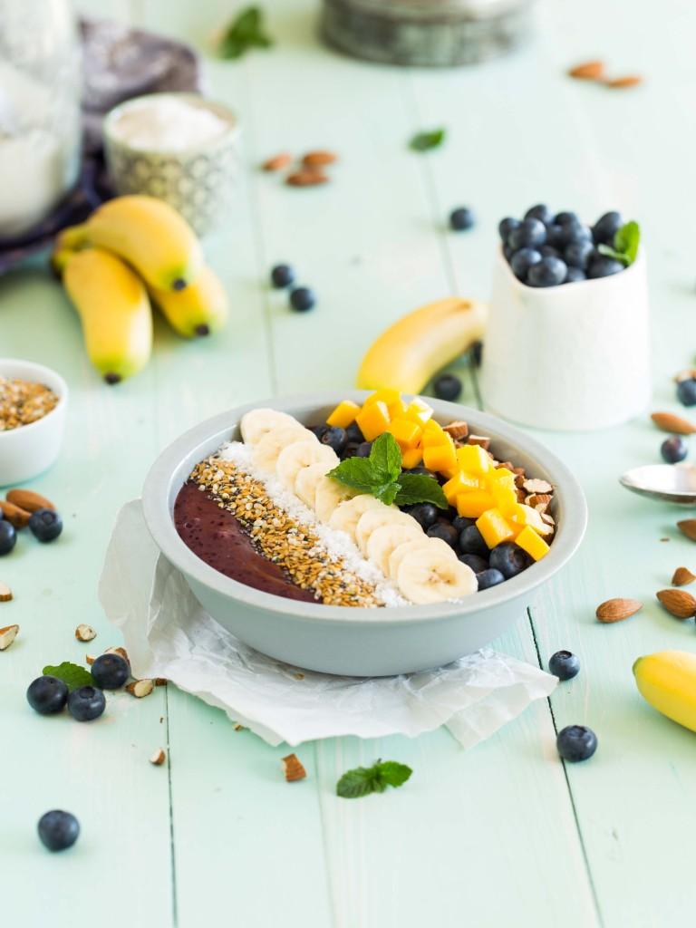 SMOOTHIE BOWL mangue, myrtilles banane