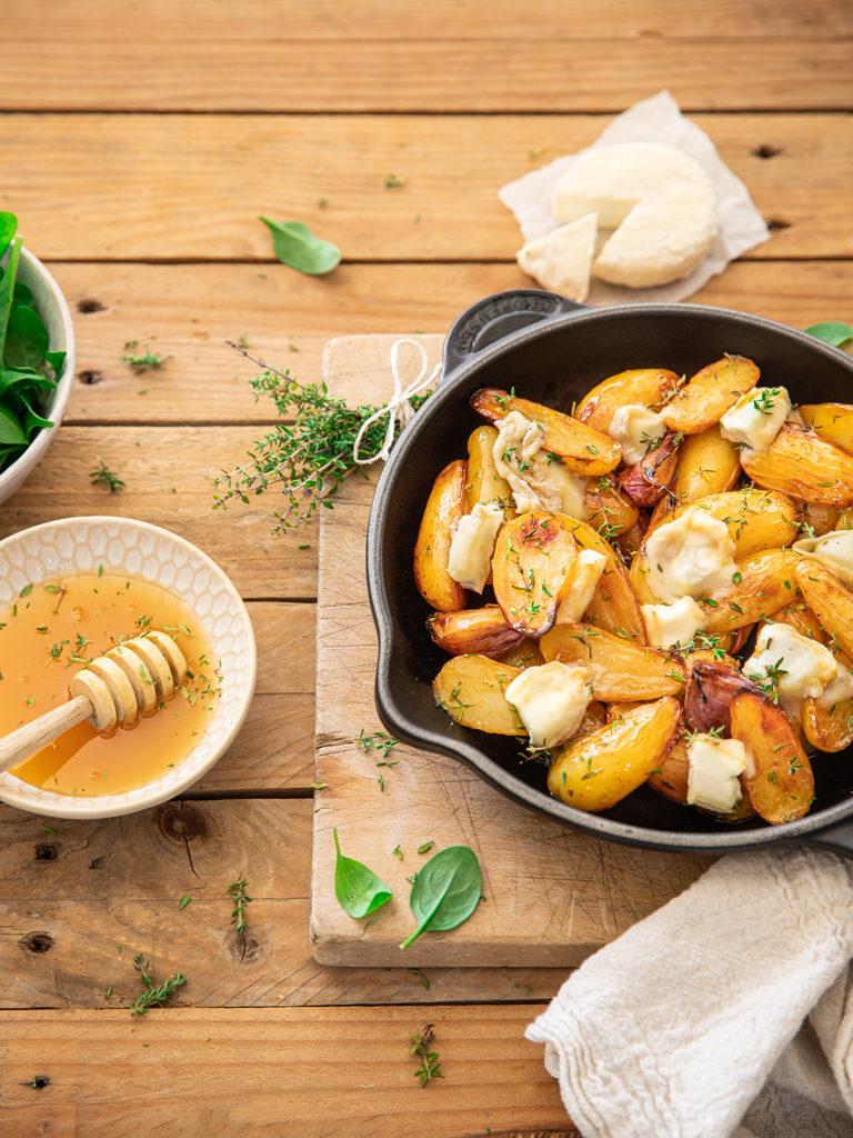 Photographie Culinaire : Délicatesse de la Drôme rôties au miel et au thym, picodon